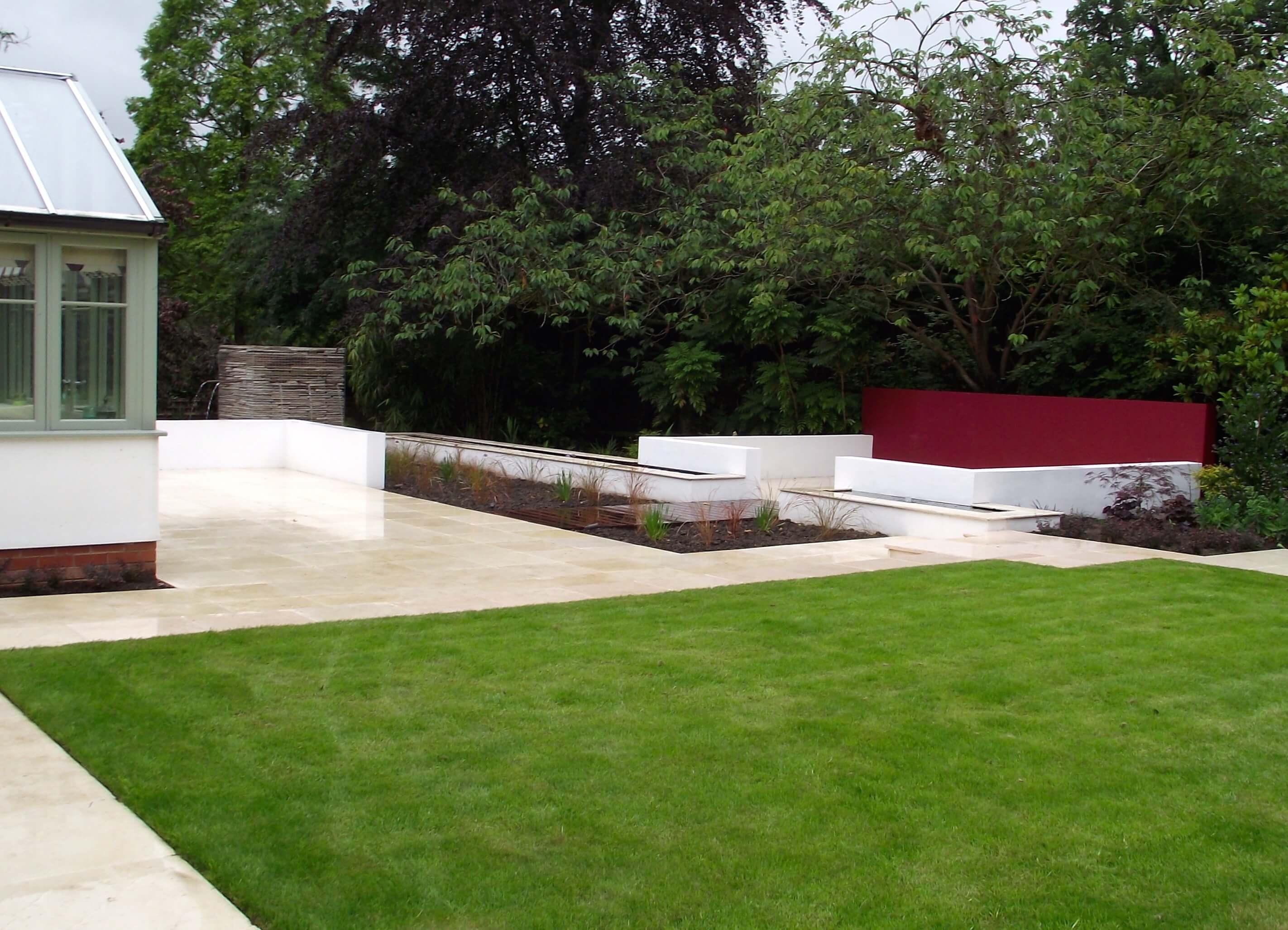 3:4 acre modern garden, alderley edge 1