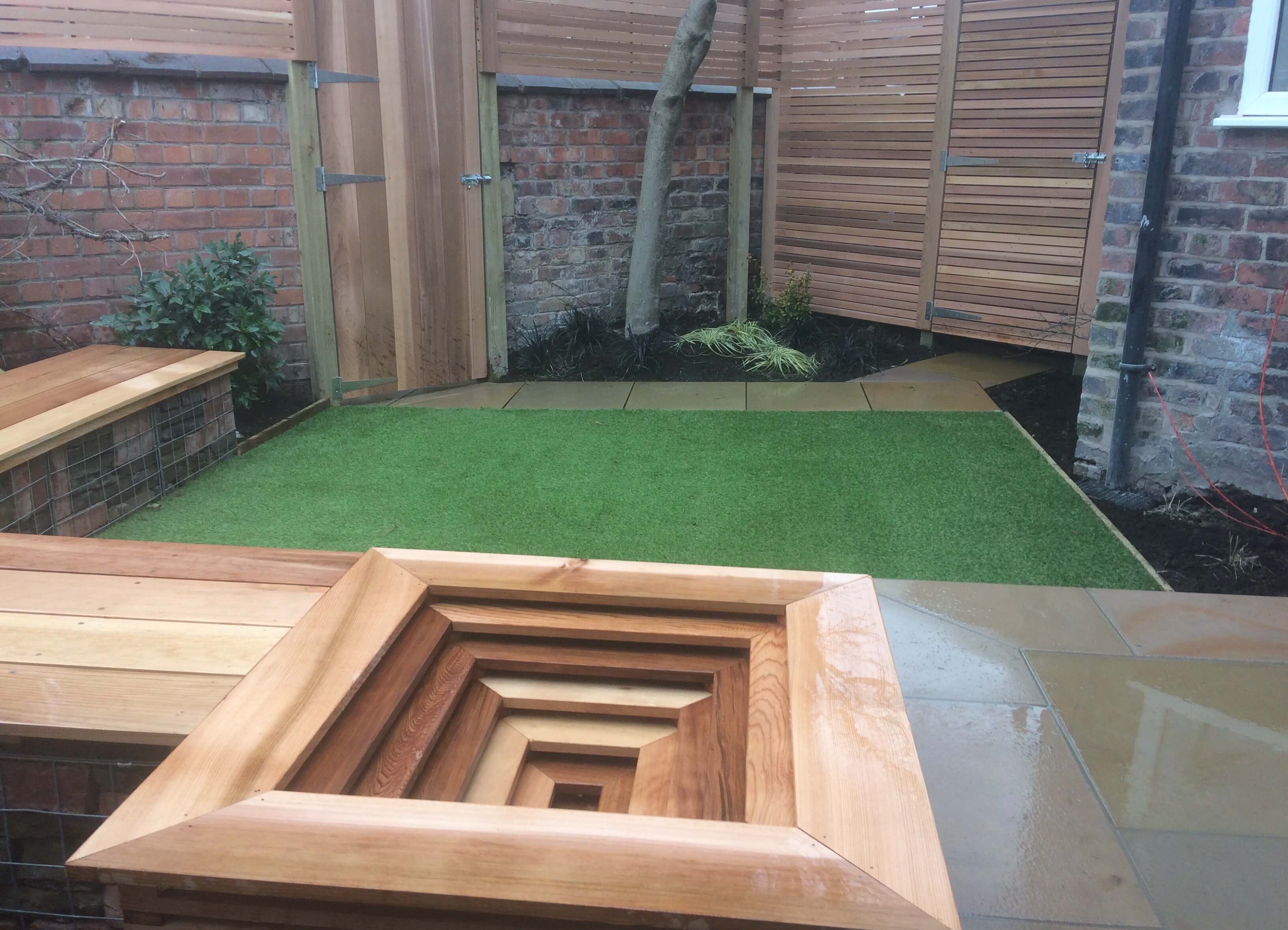 small courtyard garden design in chorlton, didsbury near manchester